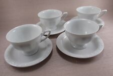 Rosenthal China Germany MARIA White Cups & Saucers - Four Sets