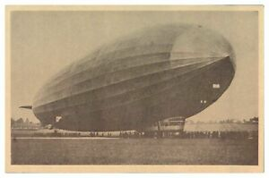 Antique-WW1-military-German-printed-postcard-Graf-Zeppelin-airship-blimp