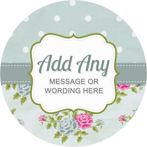 Shabby Chic Hen Party Green Sticker Labels for Party Bag Sweet Cones