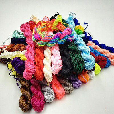 1.5mm Macrame Shamballa Braided Bracelet Rattail Cord Thread String Rope Quality