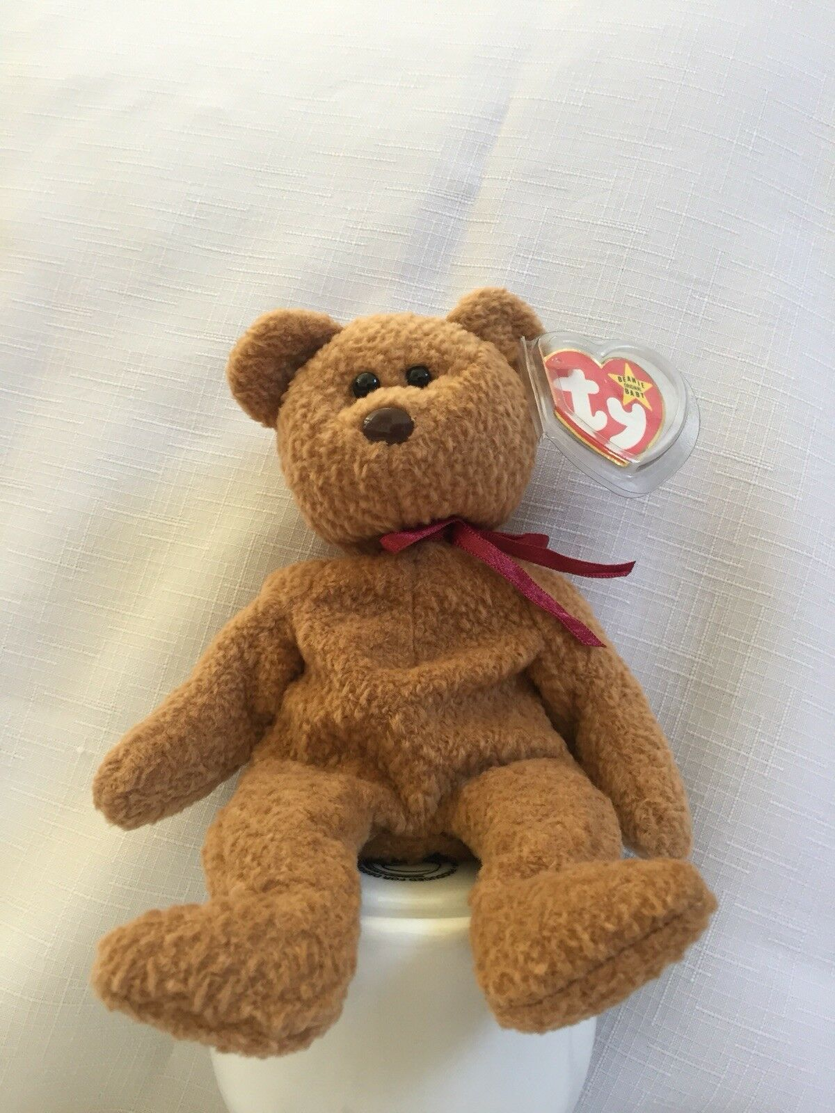 Ty Beanie baby Curly the Bear with mistakes (PVC) Pellet