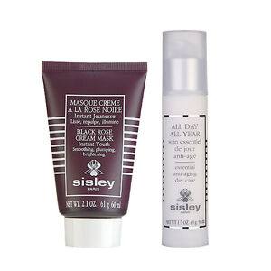 Sisley All Day All Year Essential Anti-aging Day Care, 1.7 oz-PACK OF 5 Vinexpert Eye and Lip Serum 0.5oz