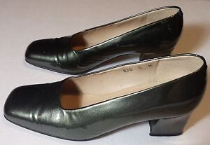 Enzo Angiolini Gray Silver Patent Leather Heels Women's Shoes Pumps 5 M
