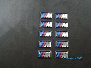 set-10-pz-Logo-Emblema-Adesivo-BMW-m-Sport-cerchi-gomme-volante-interni-ruote
