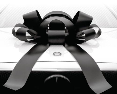 Large Black Car BowMagnetic Back, Vinyl, No Scratch, BlackGreat Price! BIG
