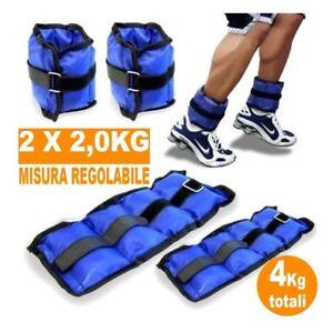 Coppia-Pesi-Caviglie-Polsi-Cavigliera-Sport-Arti-Marziali-Allenamento-4kg-dfh