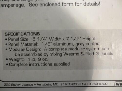 WEEMS /& PLATH DC CIRCUIT BREAKER PANEL 8 POSITION 5 BREAKERS 12 volt Marine