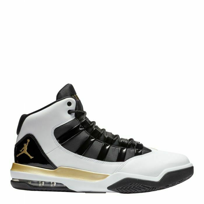 Nike Men's Jordan Max Aura shoes NEW AUTHENTIC White Black gold AQ9084-107