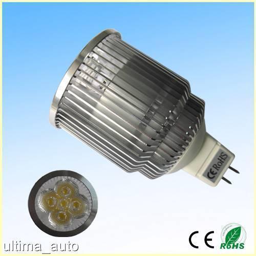 10 faretti MR16 5W lampada, lampadina LED super luminoso 450-500lm φ50MMx84MM