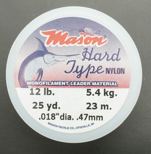 Mono 12 lb 5,4 KG Ø 0,47 mm Superspule 23 Meter MASON Hard