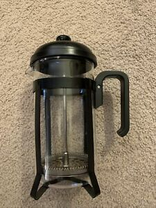 8 Cup Melior Pyrex Black Matte Coffee Plunger Press Maker Made In France