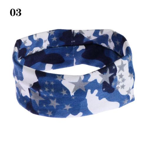 Unisex Stretch Camouflage Headband Sport Sweat Sweatband Yoga Gym Hair Band