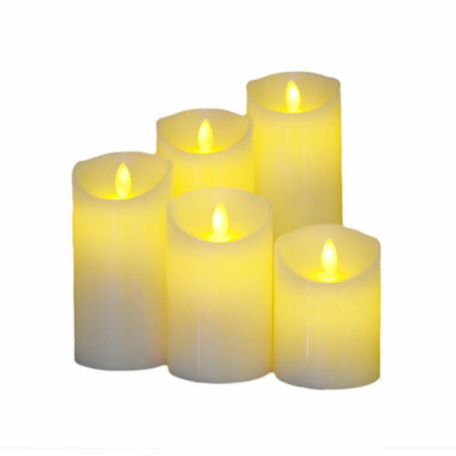 LED Flickering Candle Light Flameless Battery//USB Chargeable Wedding Decor White