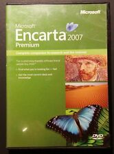 Microsoft Encarta 2007 Premium NEW - PC 5 CD'S + DVD Encyclopedia Genuine MS