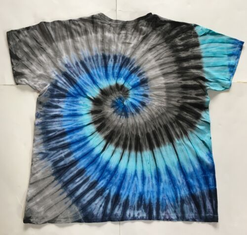 30 Yrs Exp! Sm Carbon Blue Tie Dye *New* Handmade Crew Or V Neck 4XL