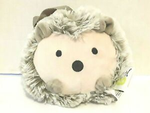 """Go by Goldbug Hedgehog Plush Travel Soother Gray Vibrating Stuffed Hang Toy 6"""""""