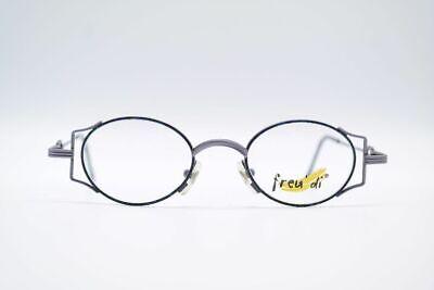 Herzhaft Vintage Freu' Di E561 42[]19 140 Grau Bunt Oval Brille Eyeglasses Nos