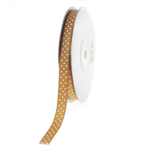 Swiss Dots Grosgrain Ribbon 25-yard 3//8-inch
