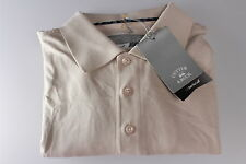 Cutter & Buck Poly Cotton Golf Polo Shirt Dry Tec Moisture Wicking Rich Beige S