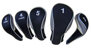 Calibre-Deluxe-Set-of-5-Easy-Off-Headcovers-460cc-1-3W-5W-Hybrid-4-amp-X
