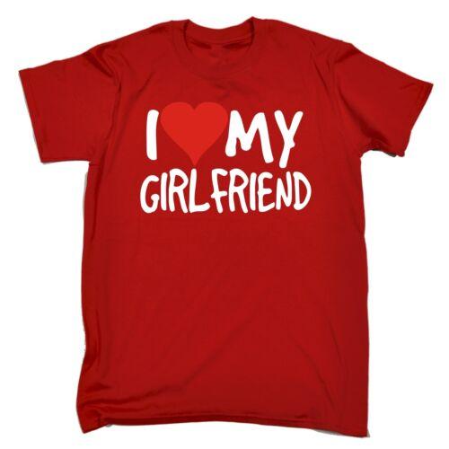 Divertente Uomo T Shirts ama la mia ragazza T-Shirt Boyfriend Incontri Regalo Compleanno