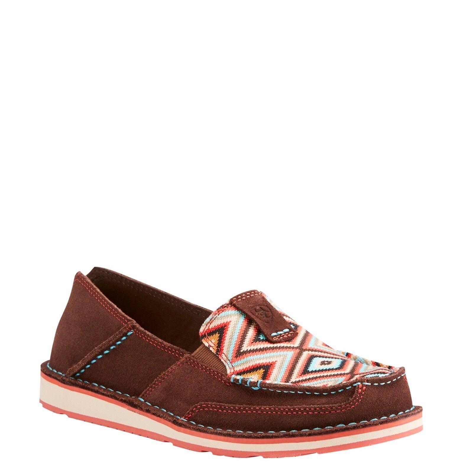 Ariat® Ladies Cruiser Coffee Bean & Pastel Aztec shoes 10023011