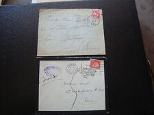 FRANCE - 2 enveloppes 1934 1936 (cy66) french