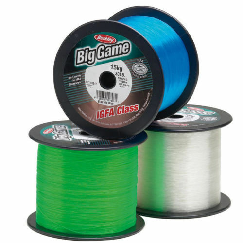 Berkley BIG GAME IGFA Clear Bulk Fishing Line 1200 m1300Yrd 37Kg .94mm