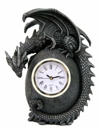 Drachen Standuhr Tischuhr Uhr Drache Dragon Drachenuhr Gothic wgt 766-7039