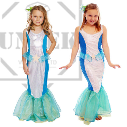 Kids Mermaid Princes Costume Fancy Dress Child Girls Book Week Party Outfit