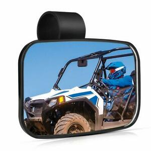 TOPMOUNT 2pcs//Set Side View Mirror for Polairs RZR 1000 XP for Yamaha Rhino 1.75 UTV SXS Roll Cage Side Mirrors Rearview Convex for Can-Am Commander 1000 red