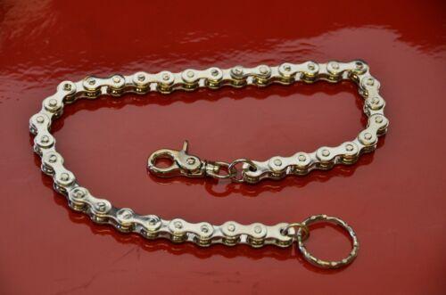 Silver Bike Chain Bikers Wallet Chain Keychain Goth Punk Jeans Trigger Fermoir