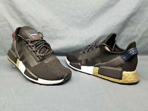 Adidas Men S Nmd R1 V2 Running Sneakers Mesh Black Gold White Size