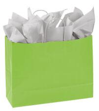 Paper Shopping Bags 25 Lime Green Retail Merchandise 16 X 6 X 12 Vogue