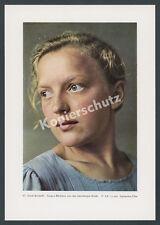 E. Retzlaff Agfacolor Porträt blonde Frau Jugend Schönheit Lüneburger Heide 1938
