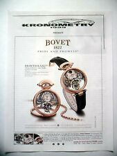 PUBLICITE-ADVERTISING :  BOVET Braveheart Amadeo Fleurier 2015 Kronometry,Montre
