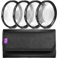 52mm Close Up Macro Lens Filter Set +1 +2 +4 +10 With Pouch By Altura Photo® on sale