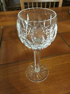 Waterford-Lismore-Crystal-Tall-Hock-Wine-Goblet-7-1-2-034-Tall-2-5-8-034-Diameter