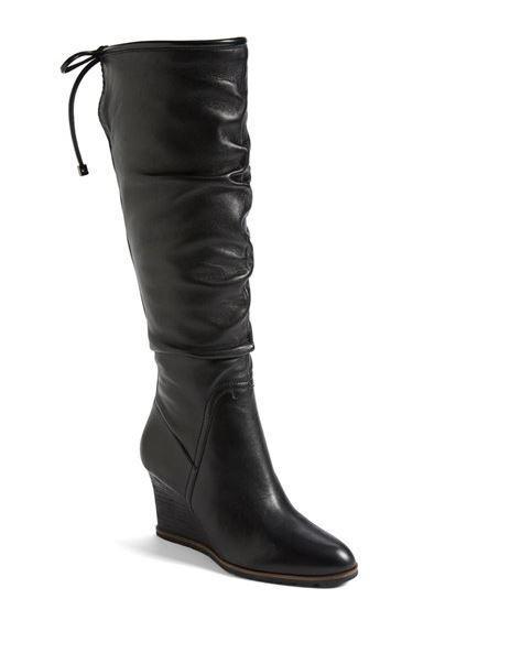 Franco Sarto Dominion Mujer Negro Wedge Wedge Wedge Knee High bota 11 f47d92