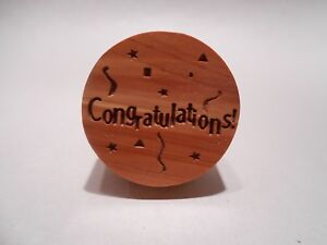 Engraved-Cedar-Wood-amp-Cork-Wine-Bottle-Stopper-CONGRATULATIONS-Party-Gift