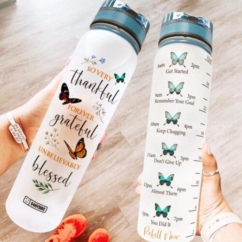 Faith Baseball 32 Oz Fruit Infusion Motivational Water Tracker Bottle