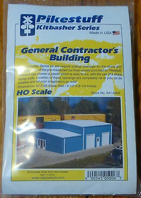 Pikestuff HO #541-5006 General Contractor's Building -- Kit - (Plastic)