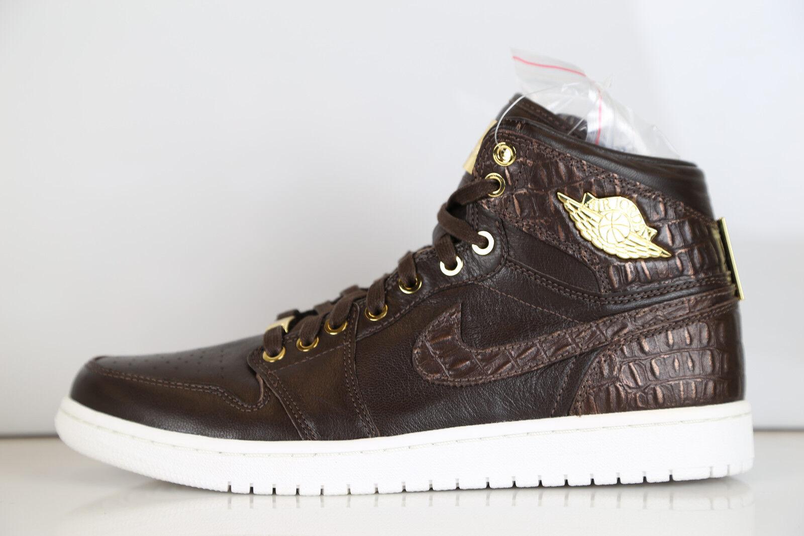 Air Jordan 1 Pinnacle Baroque Brown Croc Metallic Gold 705075-205 8-12 11 4