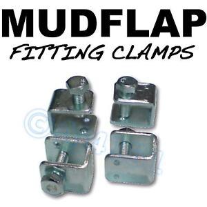 Mud-Flap-Mudflap-Fitting-Fixing-U-Clamps-x4-Jaguar
