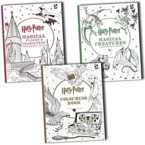 Image Is Loading Harry Potter Magical Creatures Amp Places Colouring