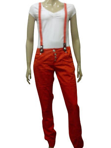 release date nice shoes united states Details about Womens Jeans Style Trousers Braces Dungarees Burnt Orange  Size 8 to 14 Ladies D1