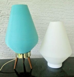 1-Tripod-Base-with-2-Mid-Century-Modern-Interchangeable-Beehive-Lamp-Shades
