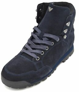 B6567 Uomo Caviglia Alla Stivale Casual Anfibio Armani Camoscio Jeans Invernale FxHvqnp