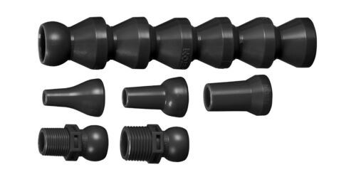 "JETON 1//2/"" Hose Kit 84040A Flex Coolant Hose BLACK"