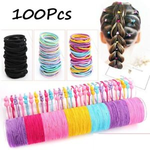100x-Hair-Ties-Hairband-Ponytail-Holder-Elastic-Rope-Girl-Kid-Head-Band-Bean